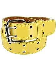 CTM Kids' Leather Two Hole Jean Belt
