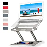 Adjustable Laptop Stand Desk Gray + Liftable Phone