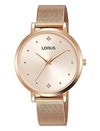 Lorus RG250PX9 - Reloj analógico de cuarzo para mujer con correa de acero inoxidable