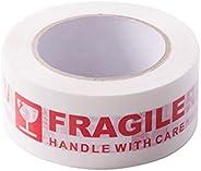 AGU Warning Frágil - Cinta de impresión de embalaje con cuidado - 2 pulgadas x 330 pies (110 yardas) - 1 rollo