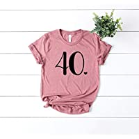 Happy Birthday Top - Cute Womens Clothes - Bday Girl - 40th Birthday - Forty Fabolous - Casual Short Sleeve T-Shirt - Graphic Tee - Bday Bash
