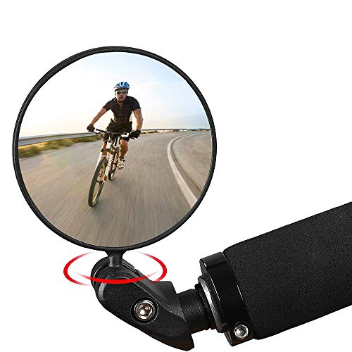 Faraone4w Espejo Retrovisor para Bicicleta, Bici Ciclismo Espejos Retrovisores Rotacion de 360 Grados,Espejor Rotativo Universal para Bicicleta E-Bike (A)