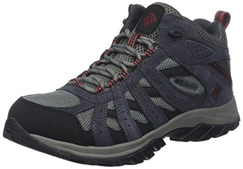Columbia Canyon Point Mid Waterproof, Botas de Senderismo para Hombre Gris (Charcoal Garnet Red 030)