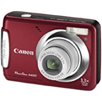 Canon PowerShot A480 10 MP Digital Camera with 3.3x Optical Zoom and 2.5-inch LCD (Deep Red) Overview Review Image