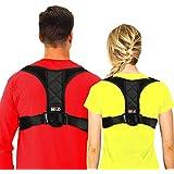 "Posture Corrector for Women and Men Under Clothes, BTUP Light Breathable Back Brace for Neck Shoulder Upper Back Pain Relief, Chest Size: 39"" - 48"""