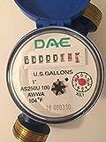 """DAE AS250U-100 1"""" Water Meter, Measuring in"""