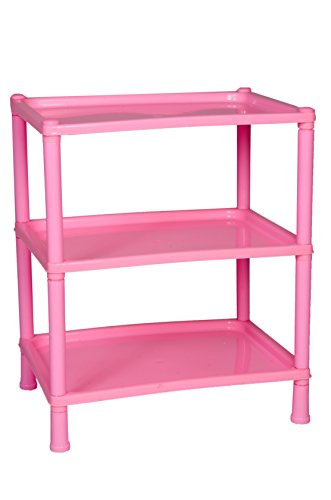 Logic Regular 3 Shelf Storage Rack – Pink