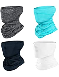 AMAGIC 4pcs Neck Gaiter Face Scarf Mask-Dust, Sun Protection Cool Lightweight Windproof, Breathable Fishing Hiking Running