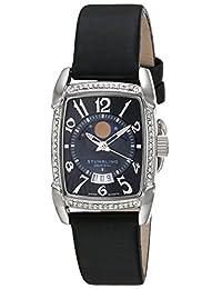 Stuhrling 78163SW7.111527 Reloj Elegante para Mujer, con Cristales de Swarovski, Negro