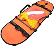 Spearfishing Dive Buoy Inflatable Flag High Visibility for Diving Spear Fishing Diving Snorkeling Swimming Ora