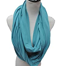 Solid Color Infinity Loop Scarf Ladies Neck Wrap Circle Snood Tube Shawl