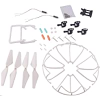 YouCute Spare Part Kit for U42 U42W U42WH Udi U45 U45W CW4 Rc Quadcopter Drone Blade Gear Lading Gear Motor Frame Gear(White Large)