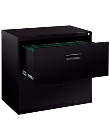 249a133ba11 Hirsh SOHO 2 Drawer Lateral File Cabinet in Black