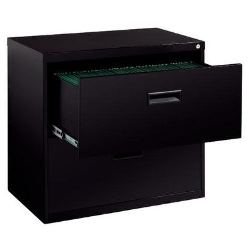 Hirsh SOHO 2 Drawer Lateral File Cabinet in Black
