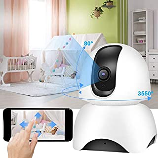 Naroote WiFi Cameras for Home Security, Rotatable Camera 360 Degree HD 720P WiFi Camera Real-Time Home Monitor Night Vision Cam(US Plug, 110V)--Quality is Our Culture