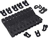 stbeyond 20pack Velvet Hanger Clips and 10pack Flocking Hooks - Drying Clothes Clips and Hooks - Perfect for Use with Slim-line Clothes Velvet Hangers (1)