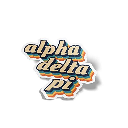Pi Greek Letter - Desert Cactus Alpha Delta Pi 70's Letter Sticker Decal Greek Tall for Window Laptop Computer Car ADPi