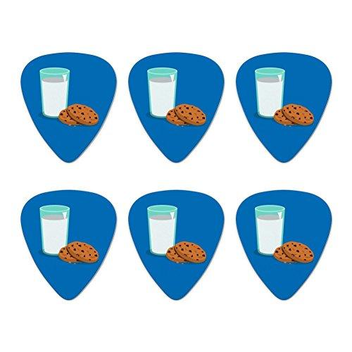 Glass Of Milk and Cookies Novelty Guitar Picks Medium Gauge - Set of 6