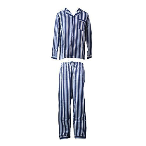 Para hombre Retro de franela pijama con impresión de colibríes y algodón diseño de conjunto de