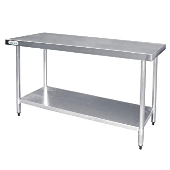 Vogue t376 mesa de acero inoxidable