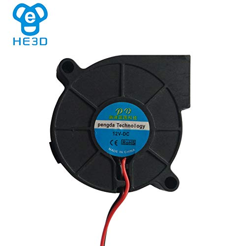 Amazon.com: 3D Printer - 2Pcs HE3D K200 EI3 K280 DC 12V/24V Turbo Blower Cooling Fan 5015 50X50X15mm for DIY 3D printer Part, Better Printing - (Size: 12V): ...