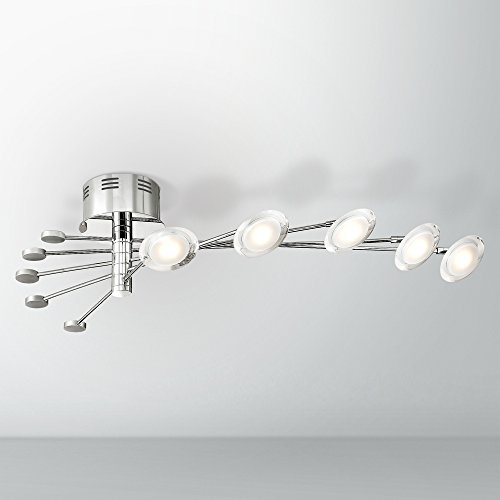 Cressida 36 1/4″ Wide Adjustable LED Chrome Ceiling Light