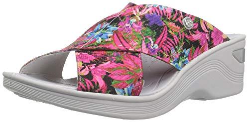 BZees Women's Desire Sandal, Pink neon Floral, 10 W US