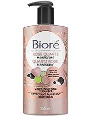 Bioré Rose Quartz + Charcoal Daily Purifying Cleanser, Facial Wash (200 mL)