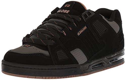 Globe Mens Sabre Skate Shoe Nero / Carboncino / Woodmoke Marrone