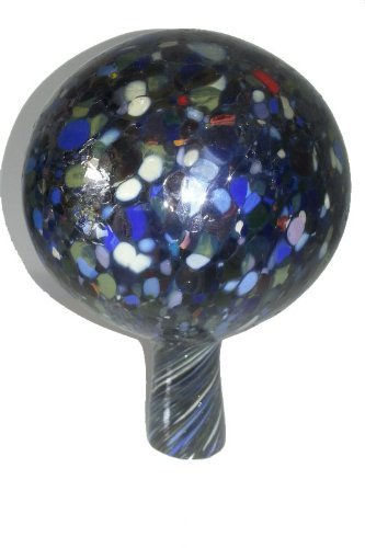 Gazing Ball Garden Ball of Mouth Blown Glass in Multi Colored Shades Diameter Approx 9 Cm Oberstdorfer Glashütte by Oberstdorfer Glashutte