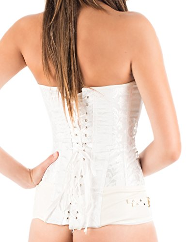 C149l Blanc Serre blanco Lencería Intimax Femme Moda taille Nieve Y Corsets x1STSWqwvp