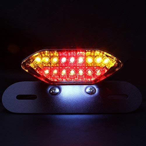 pour frein arri/ère pour moto accessoires de montage wastuo lumi/ère de frein E clignotant LED int/égr/ée 1/unit/é 2/en 1