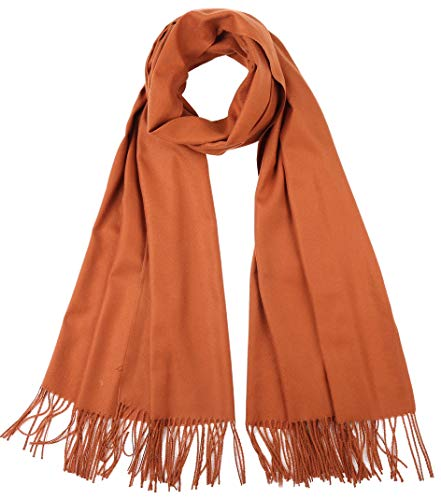 Cindy&Wendy Large Soft Silky Cashmere Pashmina Shawls Wraps Scarf for Women in Solid -