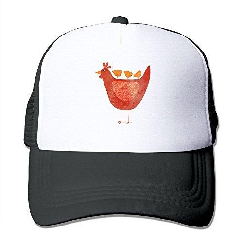 SUJV-T9 Hip-Hop Adult Unisex Hen and Chicks 100% Nylon Mesh Caps One Size Fits Most Adjustable Baseball Cap Black for $<!--$9.99-->