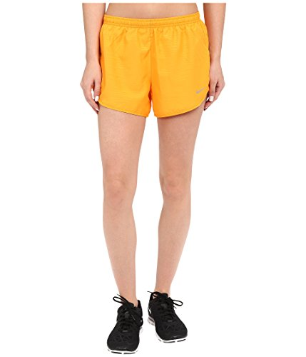 Nike Womens Modern Embossed Tempo Short - Orange - XS