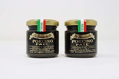 - La Rustichella Porcino Vegetarian Pate' Black Mushroom 3.2 Ounce
