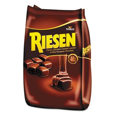 Riesen Chewy Chocolate Caramels - Chocolate Caramel Candies, 30oz Bag