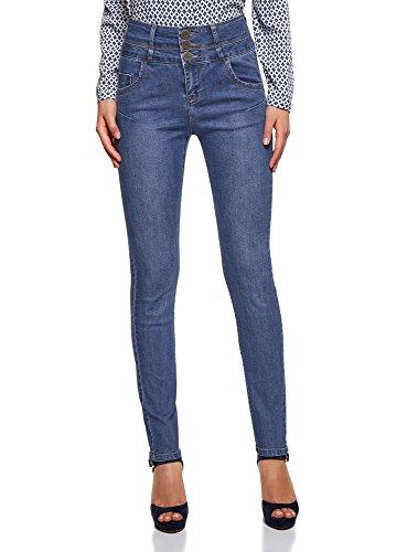 A 7000w Blu Donna Vita Alta Jeans Oodji Skinny Ultra qHCSCw6