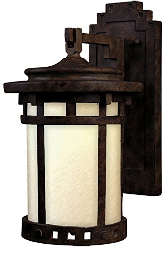 Santa Barbara Porch Light - Maxim Lighting 3143MOSE, Santa Barbara Dark Sky, 1 Light Outdoor Wall Lantern, Sienna