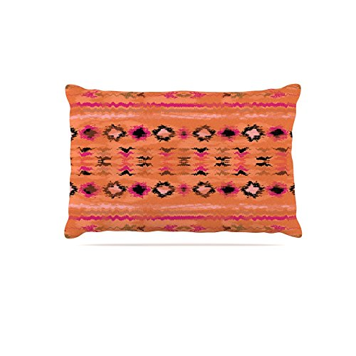 Kess InHouse Nina May Navano  Fleece Dog Bed, 50 by 60 , orange Tribal