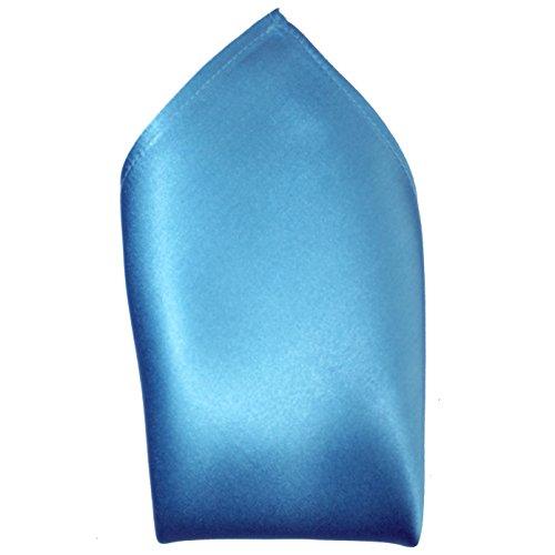 - Ocean Blue Silk Satin Pocket Square 16