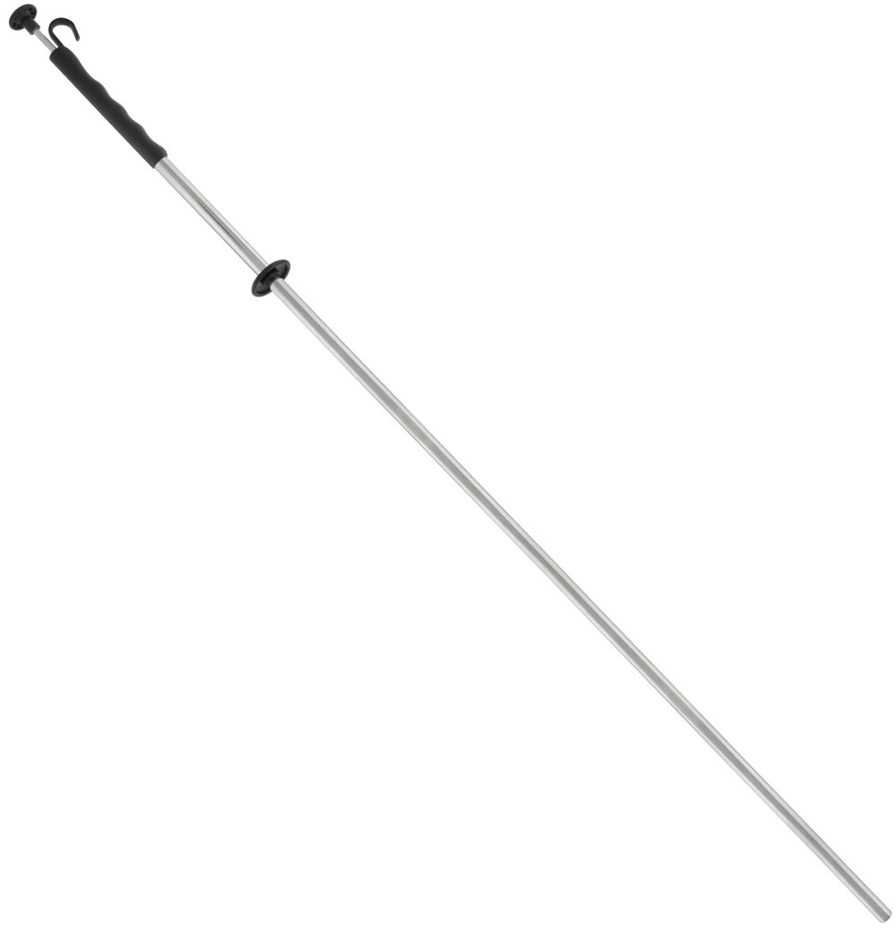 Magnetic Retrieving Baton with Release Handle and Guard, and Easy-Grip Handle with Hang Hook, 0.50'' Diameter, 39'', 1 Each