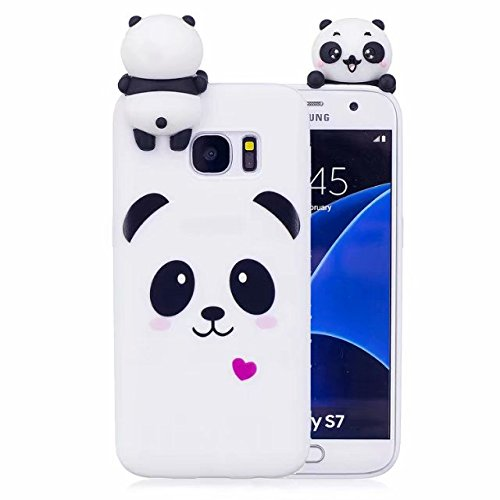 online store 8eadb 849ee Samsung Galaxy S7 Edge Case, iFunny Cute 3D Cartoon Animals Unicorn Panda  Shockproof and Full Protective Soft Silicone Rubber Phone Case for Samsung  ...