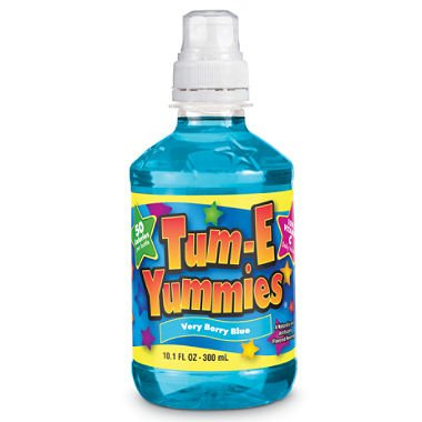 Fruit Flavored Beverage - Tum-E Yummies Fruit Flavored Drink, Very Berry Blue 10 Oz (Pack of 12 Bottles)