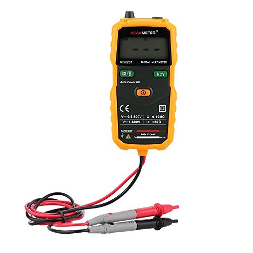 PEAKMETER MS8231 Pocket Size 2000 Counts Mini Auto Digital Multimeter with Non Contact Voltage Detector (Mini Digital Multimeters Voltage Detector)