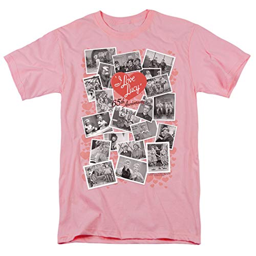 - I Love Lucy 65th Anniversary Collage T Shirt (Large) Pink