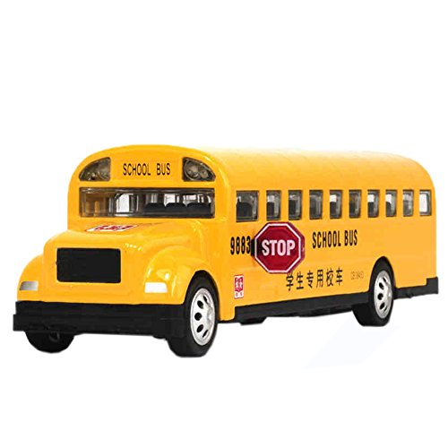 Kylin Express American School Bus, Yellow/ Alloy Car Model Collection with Light&Sound