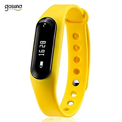 Gosund Fitness Tracker C6 Smart Wristband Bluetooth4.0 Heart Rate Monitor Call SMS Reminder IP65 Waterproof Mini Band with OLED Screen
