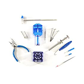 Science Purchase 78BW0222030 16 Piece Watch Repair Kit Blue (Open Watch Backs-Change Bands)