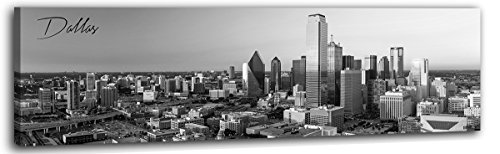 DJSYLIFE-Dallas Picture Canvas Print - Modern City Wall Art Framed Artwork for Office Living Room Wall Decoration,Ready to Hang 13.8